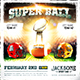 American Football Super Ball Square Flyer vol.3 - GraphicRiver Item for Sale