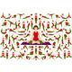 Set of Yogi Woman in Asana Pose - GraphicRiver Item for Sale