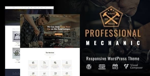 Mechanic |  Auto Repair WordPress Theme