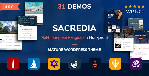 Sacredia | Religious and Non-profit WordPress Theme
