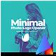 Minimal Photo Logo Opener - VideoHive Item for Sale