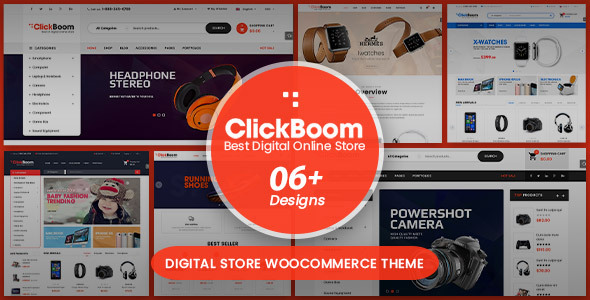 ClickBoom - Digital Store WooCommerce WordPress Theme (6+ Homepage Designs)