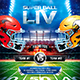 American Football Super Ball Square Flyer vol.2 - GraphicRiver Item for Sale