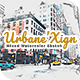 UrbaneXign - Mixed Watercolor Sketch - GraphicRiver Item for Sale