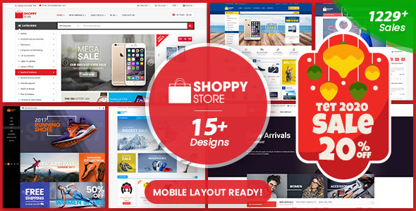 ShoppyStore - Multipurpose Responsive WooCommerce WordPress Theme (15+ Homepages & 3 Mobile Layouts)
