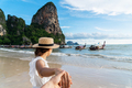 Young couple traveler enjoying a summer vacation at tropical sand beach in Krabi, Thailand - PhotoDune Item for Sale