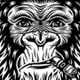 Collection of Gorilla Smoking Characters - GraphicRiver Item for Sale