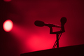 Microphone in red stage lights - PhotoDune Item for Sale