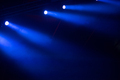 Glowing blue stage lights in the dark - PhotoDune Item for Sale