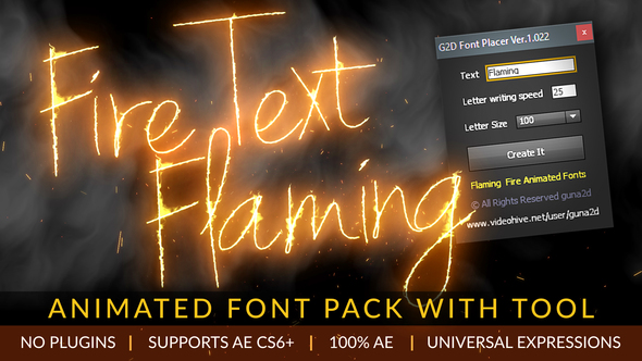 Download Fire Text Flaming Animated Font Pack with Tool Video Free ...