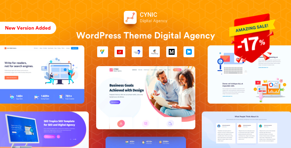 Agency Cynic - Digital Agency & Startup Agency WordPress Theme
