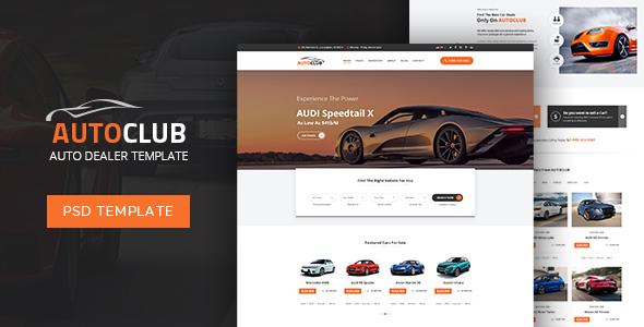 Auto Club - Dealer PSD Template