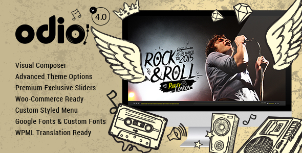 Odio - Music WP Theme For Bands, Clubs, and Musicians
