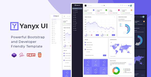 Yanyx UI - Bootstrap 4 + Laravel Starter Kit Admin Dashboard Template
