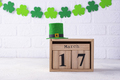 St. Patrick's day background with calendar - PhotoDune Item for Sale