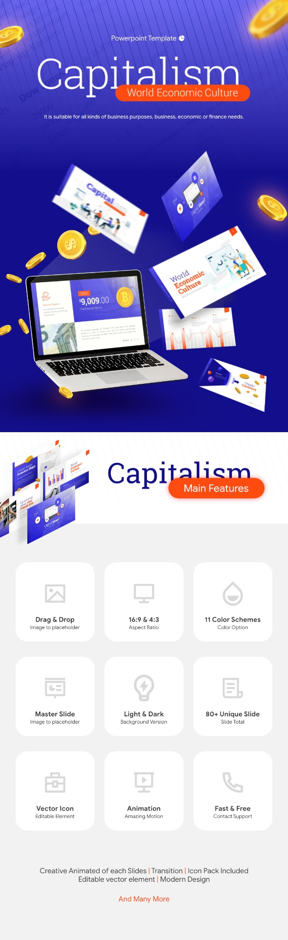 Capitalism - World Economic CulturePowerpoint Presentation Template Fully Animated