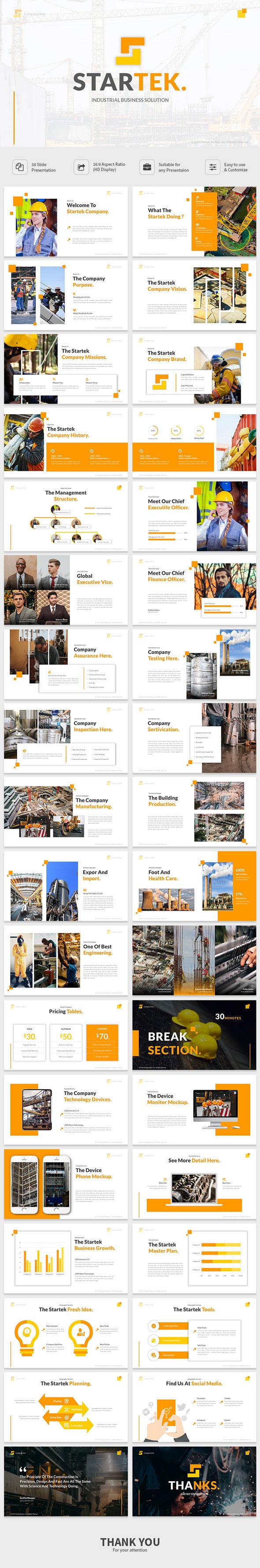 Startek - Powerpoint Industrial Business Solution Presentation