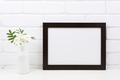 Black brown  landscape frame mockup with Tobacco flowers - PhotoDune Item for Sale