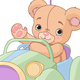Bear Sitting in Toy Car - GraphicRiver Item for Sale