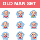 Old Man Stickers - GraphicRiver Item for Sale