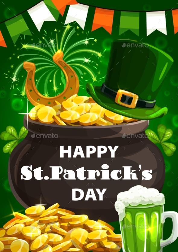 Patricks Day Leprechaun Gold Cauldron