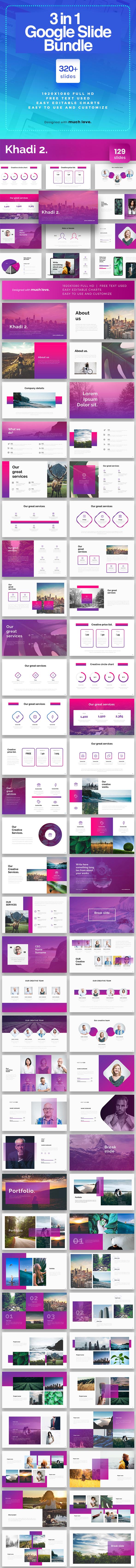 3 in1 Bundle Google Slide Presentation Template