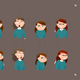 Cartoon Woman Character Expressions - GraphicRiver Item for Sale