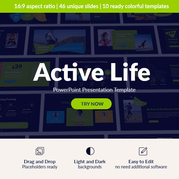 Active Lifestyle PowerPoint Presentation Template