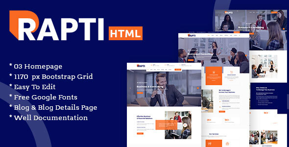 Rapti - Multipurpose Business Digital Corporate agency SEO & Marketing HTML5 Template