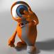 Orange Alien Rigged - 3DOcean Item for Sale
