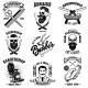 Set of Vintage Barber Shop Emblems - GraphicRiver Item for Sale