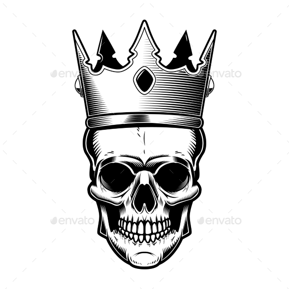 Skull with King Crown