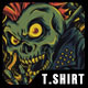 Skull Punk T-Shirt Design - GraphicRiver Item for Sale
