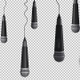 Professional Dynamic Microphone Hanging From A Cable - VideoHive Item for Sale