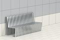Metal waiting bench - PhotoDune Item for Sale