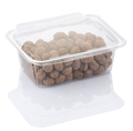 pecan nuts in a transparent plastic food box isolated on a white background with clipping path - PhotoDune Item for Sale