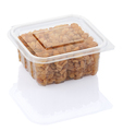 raisins in a transparent plastic container isolated on a white background with clipping path - PhotoDune Item for Sale