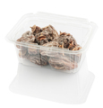 dried persimmon in a plastic food container, isolated on a white background with clipping path - PhotoDune Item for Sale