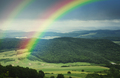 Green meadow with rainbow in spring - PhotoDune Item for Sale