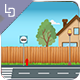 Neighbour Run - Game Background - GraphicRiver Item for Sale