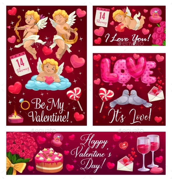 Be My Valentine Hearts Love Balloons and Flowers