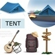 Realistic Camping Elements Composition - GraphicRiver Item for Sale