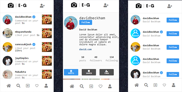 EventGram Social Network | Photo sharing User Interface (UI)