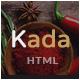 Kada - Restaurant & food Bootstrap Template - ThemeForest Item for Sale