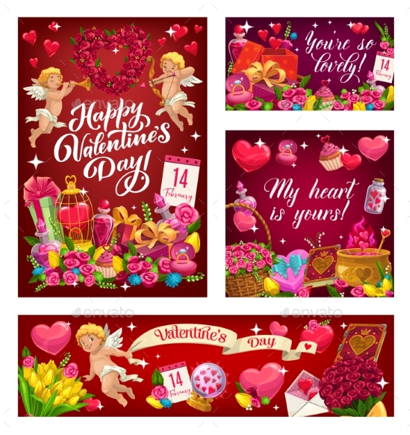 February 14 Holiday of Love Valentines Day Signs