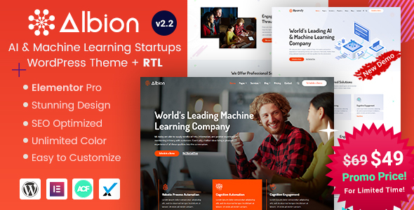 Albion - Machine Learning & AI WordPress Theme