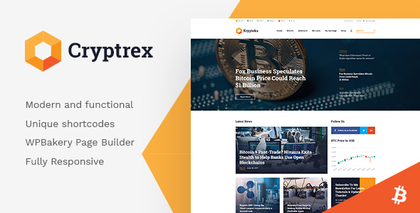 Cryptrex | Cryptocurrency & Mining WordPress Theme