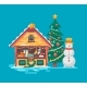 Christmas Market Tree and Snowman - GraphicRiver Item for Sale