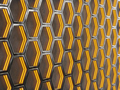 Glowing hexagonal cells on a concrete background. Abstract background with geometric structure. - PhotoDune Item for Sale
