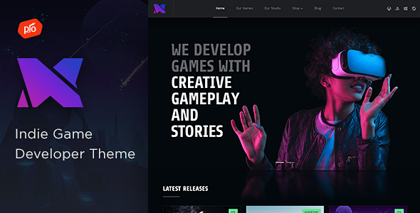 Xion – Indie Game Developer Theme Preview